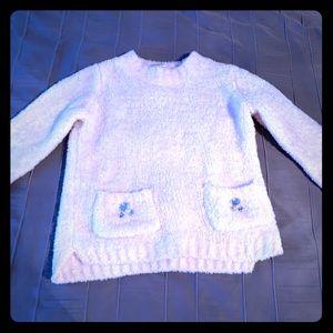 Fun Fuzzy Sweater with Rhinestone Details